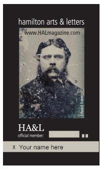 HAL membership card